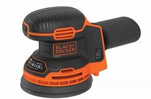 Black+Decker BDCROS18N-XJ Ponceuse excentrique 18 V avec bac à poussière pour ponceuse/polisseuse multi-position ergonomique Livré sans batterie ni chargeur 72 W 18 V Noir Orange de la marque Black & Decker image 0 produit