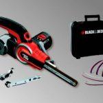 BLACK+DECKER KA902EK-QS Lime electrique filaire - 400 W - 455 mm x 13 mm - 900 à 1400 tours/min - Variateur de vitesse - Interrupteur anti-poussières - 3 bras et 6 bandes abrasives de la marque Black & Decker image 2 produit
