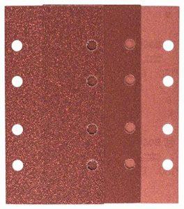Bosch 2609256A86 Feuilles abrasives pour Ponceuses vibrantes 93 x 185 4 feuilles Grain 60/4 feuilles Grain 120/2 feuilles Grain 180 Nombre de trous 8 de la marque Bosch image 0 produit
