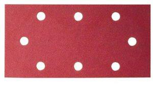 Bosch 2609256B03 Feuilles abrasives pour Ponceuses vibrantes AEG et Black + Decker 93 x 230 Nombre de trous 8 Grain 80 Lot de 10 feuilles de la marque Bosch image 0 produit