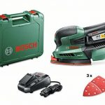 """Bosch Ponceuse multifonction """"Expert"""" sans fil PSM 18 Li, 1 batterie 18V 2,5 Ah, 3 feuilles abrasives, technologie Syneon 06033A1303 de la marque Bosch image 1 produit"""