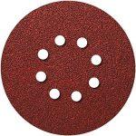 Lot de 10 disques velcro Ø 150 mm 8 trous, papier abrasif excentrique, disques abrasifs velcro fixation par ex. pour Hilti WFE DeWALT Makita Grain de 36 à 1200 de la marque Hobbypower24 image 1 produit