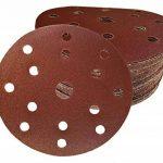 Lot de 60 disques abrasifs de 150 mm de diamètre I avec grain 10 x 40/60/80/120/180/240 papier abrasif pour ponceuse excentrique 15 trous de la marque FD-Workstuff image 1 produit