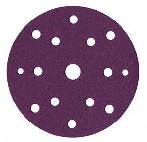 Lot de 60 disques abrasifs de 150 mm de diamètre I avec grain 10 x 40/60/80/120/180/240 papier abrasif pour ponceuse excentrique 15 trous de la marque FD-Workstuff image 0 produit