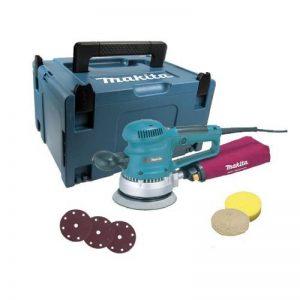 Makita BO6030JX1/2 Ponceuse excentrique 150mm 310W + 53 accessoires + coffret Makpac Bleu de la marque Makita image 0 produit