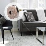 Navaris 20x Patins à vis en feutre - Patins à visser 28 mm pour protection du sol pour chaises et meubles - Feutre et métal - Rond de la marque Navaris image 1 produit