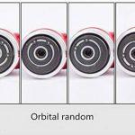 Nouvelle ponceuse / polisseuse d'angle de pression d'air de ponceuse orbitale de haute performance Mini rouge droit long + tampon de ponçage de 50mm et de 75mm de la marque ZHONG AN image 4 produit
